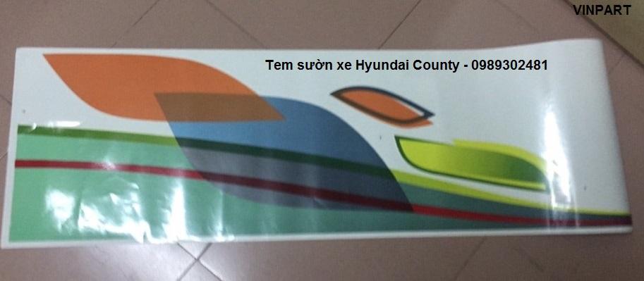 Tem sườn xe hyundai county