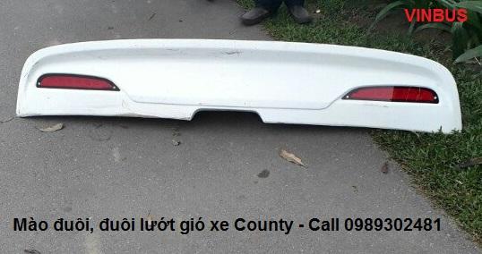 Mào đuôi xe county, đuôi lướt gió xe county, mão đuôi xe county