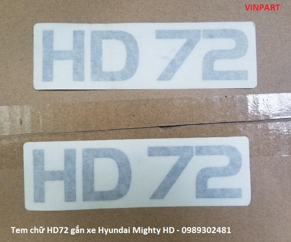 TEM CHỮ MIGHTY HD72